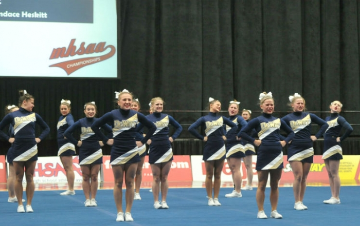 DeWitt Competes at Cheer States